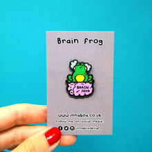 Load image into Gallery viewer, Brain Frog Enamel Pin - Invisible Illness Club - Innabox - self care - brain fog