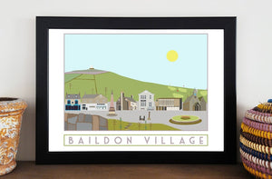 Baildon Travel inspired poster print - Sweetpea & Rascal - Yorkshire prints - Yorkshire scenes and landmarks
