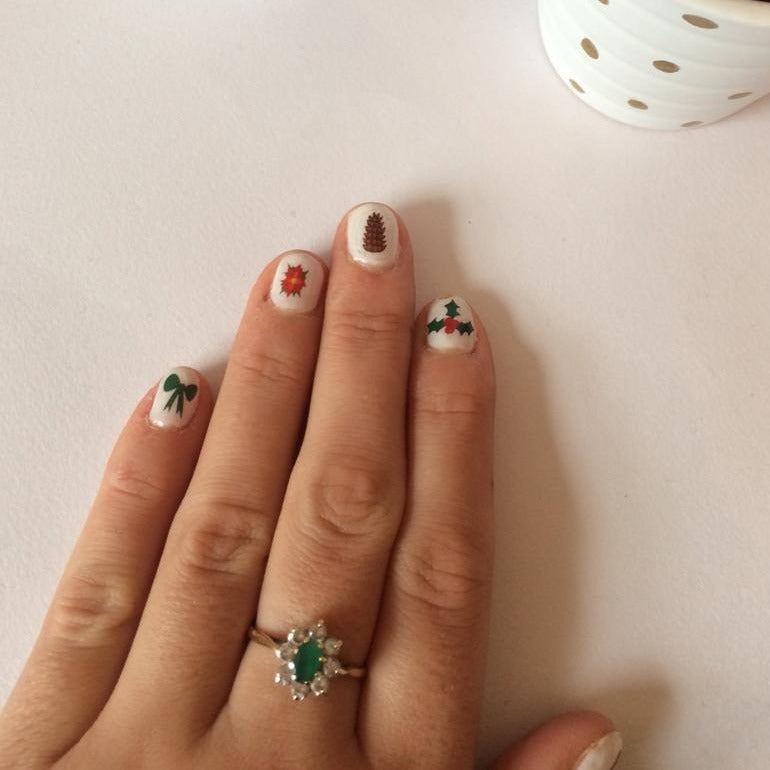 Winter Wonderland Nail Decals - nail stickers - Christmas pampering - Thriftbox
