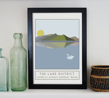 Load image into Gallery viewer, Catbells travel inspired poster print - Sweetpea & Rascal - Lake District Cumbria