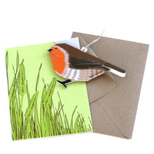 Load image into Gallery viewer, Pop Up Greetings Card - Robin - Faye Stevens Design - Papercraft
