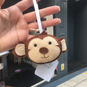 Felt Monkey Decoration- Giddy Designs