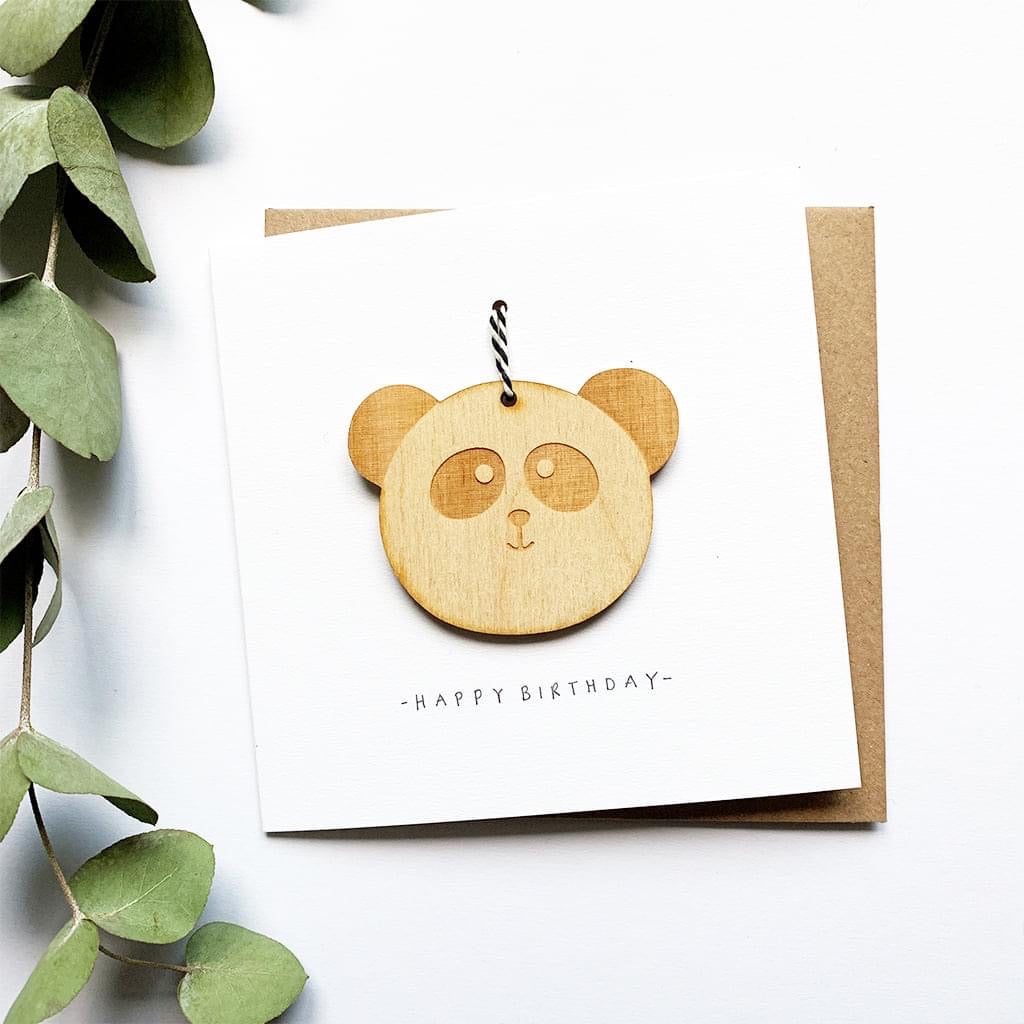 Panda Decoration Birthday Card - Hu&Mee