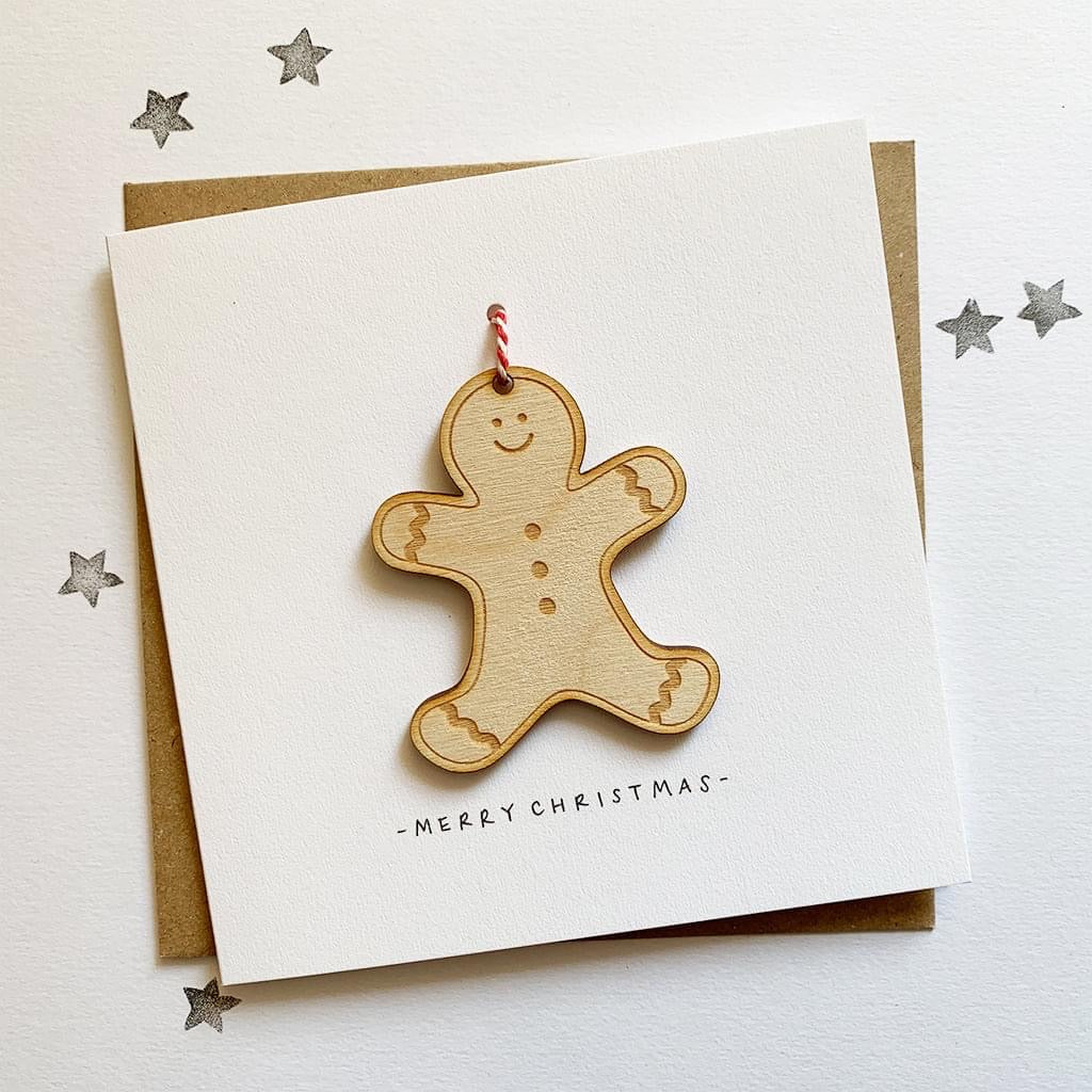 Gingerbread Man Decoration Christmas Card - HuandMee - Christmas greetings - Christmas gift idea