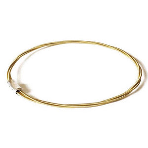 Guitar String Bangle - Brass - Melodies