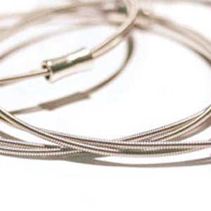 Guitar String Bangle - Silver - Melodies