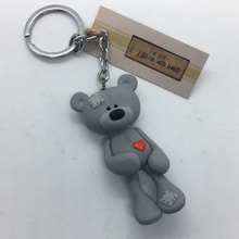 Load image into Gallery viewer, Grey Bear Keyring - Pins and Noodles