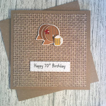 Load image into Gallery viewer, 70th Birthday Card - 70 - Handmade by Natalie