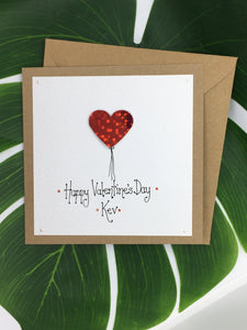 Personalised Valentine's Day Card - Handmade by Natalie