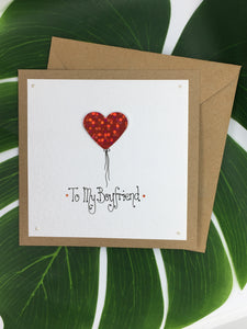 Boyfriend Valentine's Day Card - Handmade by Natalie