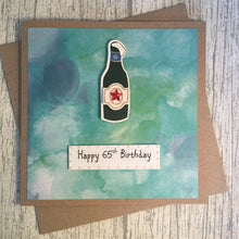 Load image into Gallery viewer, 65th Birthday Card - 65 - Handmade by Natalie