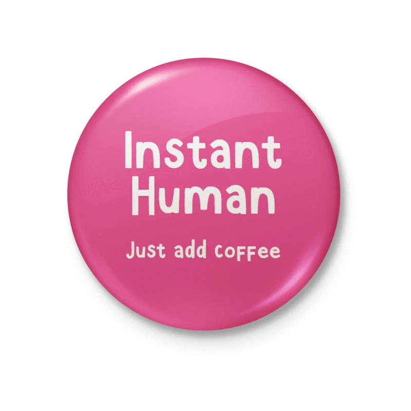 Badge - Instant Human - Whale and Bird