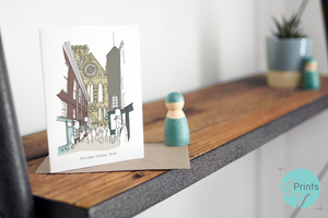 York Minster Greetings Card - Accidental Vix Prints - Yorkshire illustrations