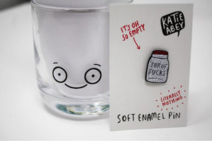 Enamel Pin - Jar of F**ks - Katie Abey - sweary pins!