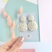 Load image into Gallery viewer, Art Deco style handrolled Earrings - Polymer clay - Various Designs - Laura Fernandez Designs