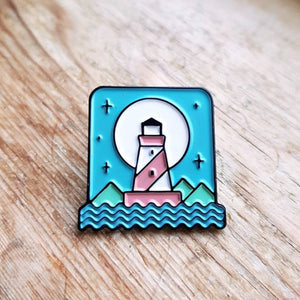 Lighthouse Enamel Pin - Or8 Design - outdoors, adventure