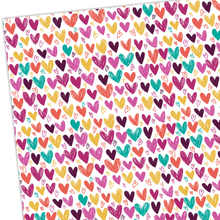 Load image into Gallery viewer, Gift Wrap - Hearts - Whale and Bird - Bright and colourful gift wrap