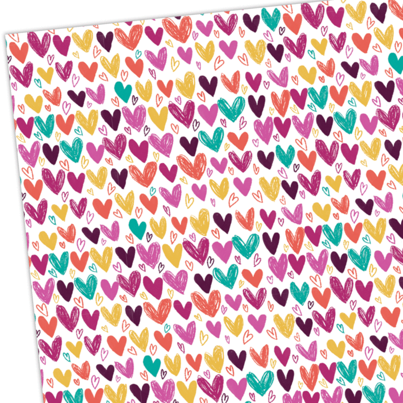 Gift Wrap - Hearts - Whale and Bird - Bright and colourful gift wrap