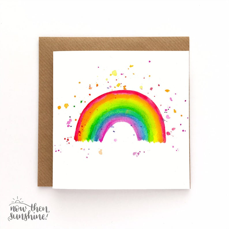 Rainbow Greetings Card - Now Then Sunshine! - Happy Mail