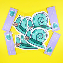 Load image into Gallery viewer, Snail Mail sticker - stationery - Bronte Laura Illustration