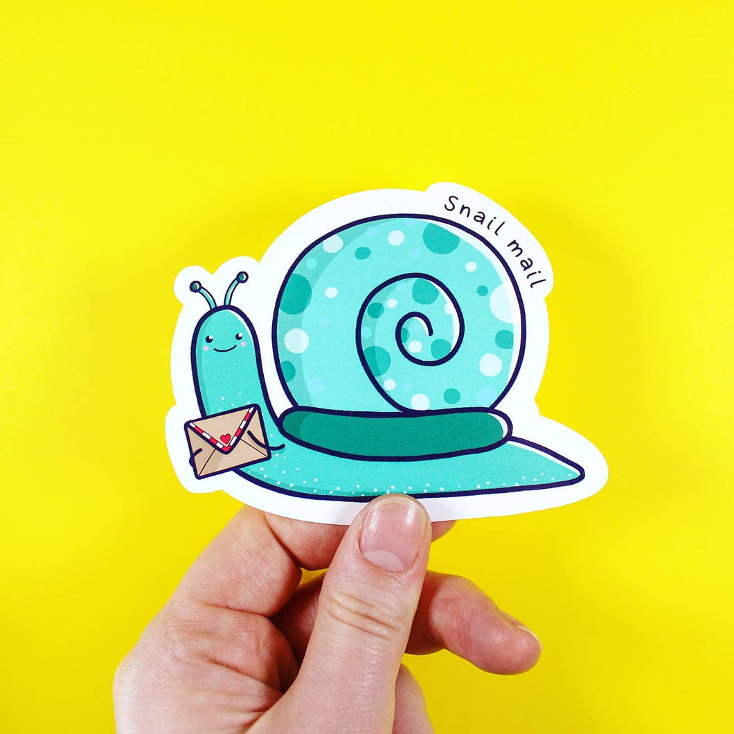 Snail Mail sticker - stationery - Bronte Laura Illustration