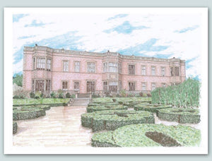 Temple Newsam house and grounds Illustration - A4 print - Art by Arjo - Leeds landmarks