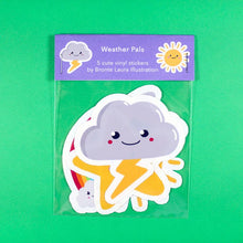 Load image into Gallery viewer, Weather Pals Sticker pack - rainbow stickers - Bronte Laura Illustration
