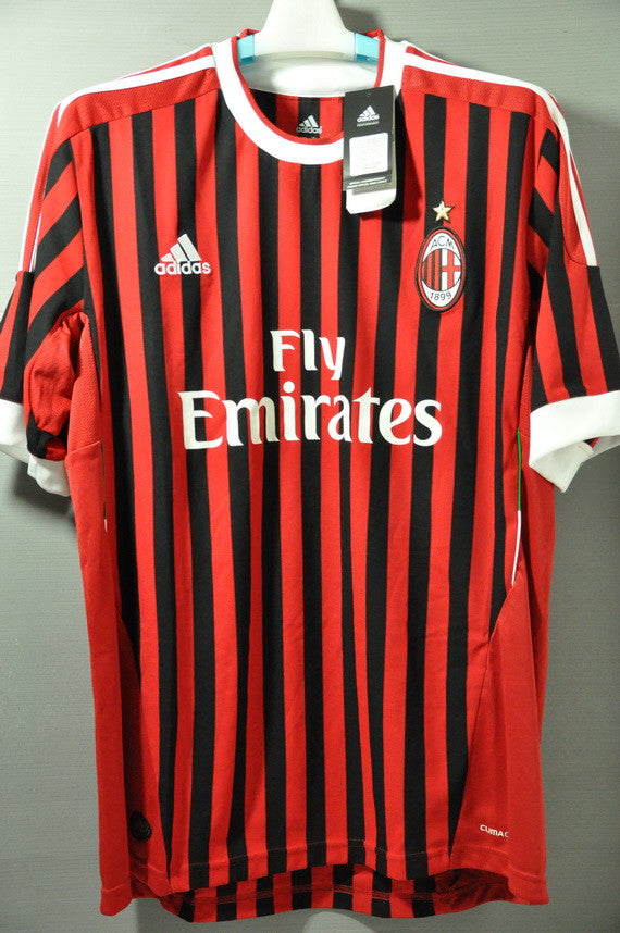 on sale 484ad e5f12 AC Milan Home Jersey Shirt Replica 2011 Series A Italy
