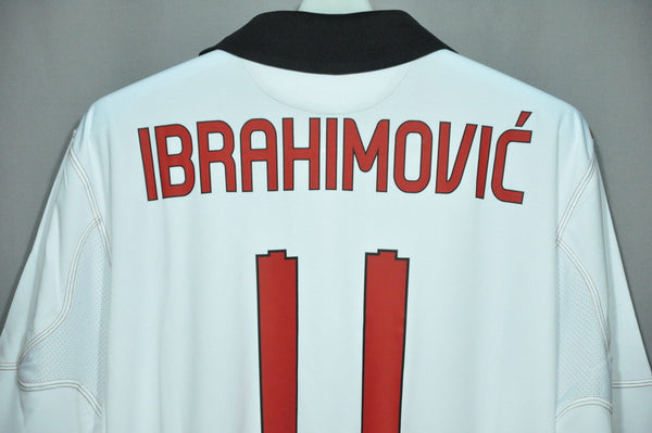 premium selection 9f419 405bf AC Milan Ibrahimovic Away Sleeves Jersey Shirt Replica 2010 2011 Italy  Series A Euro Champion League