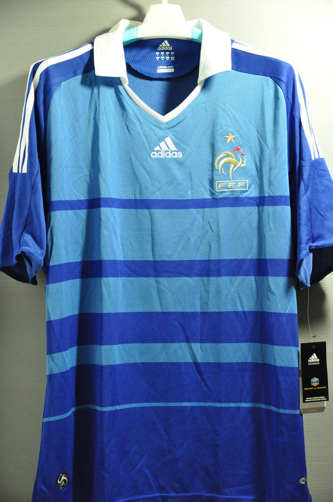 a8b800915 France+French+National Football Team+football+soccer+2008+adidas+Away+Jersey +Shirt+Maglia+Trikot+NWT+Henry+Zidane+Benzema (2) – Nice Day Sports