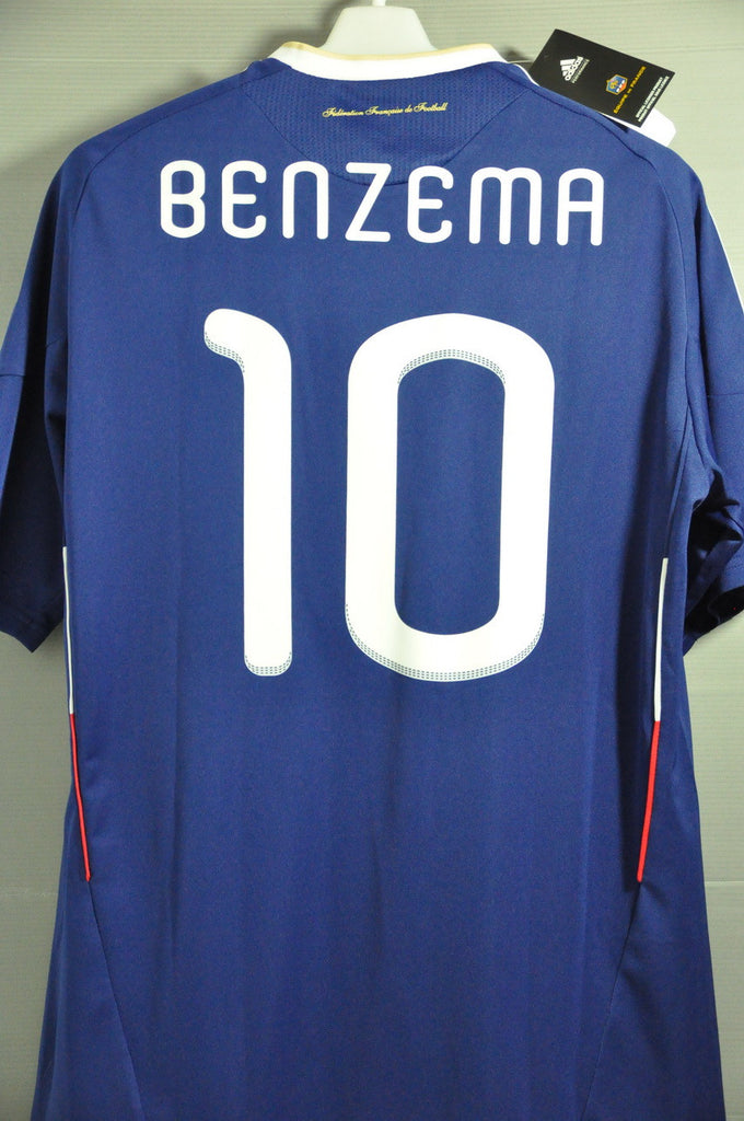 san francisco 59622 5f0e3 France BENZEMA National Football Team Jersey Shirt World Cup 2010
