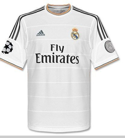 buy online eb7d5 46501 Real Madrid 2014 UCL Jersey Shirt UEFA Starball badge plus 9 time Euro  Champion badge Spain with Presentation Bag