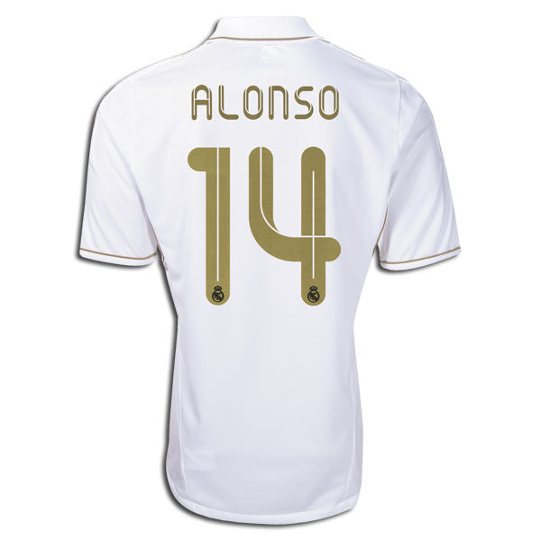 84d38a2aa Real Madrid XABI Alonso 2011 2012 Home Soccer Jersey Shirt Replica Spanish  league FPL Liga BBVA