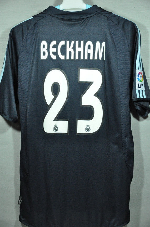 promo code d07e5 f810a Real Madrid Beckham 2003 Away Jersey Shirt Spanish league FPL 2003 Spanish  BBVA Vintage
