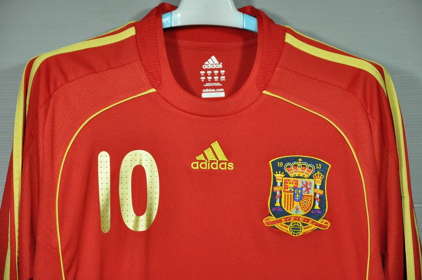 57e3f3ace Spain Fabregas 2008 National Football Team Home Jersey Shirt World Cup  Europ Champion 2008