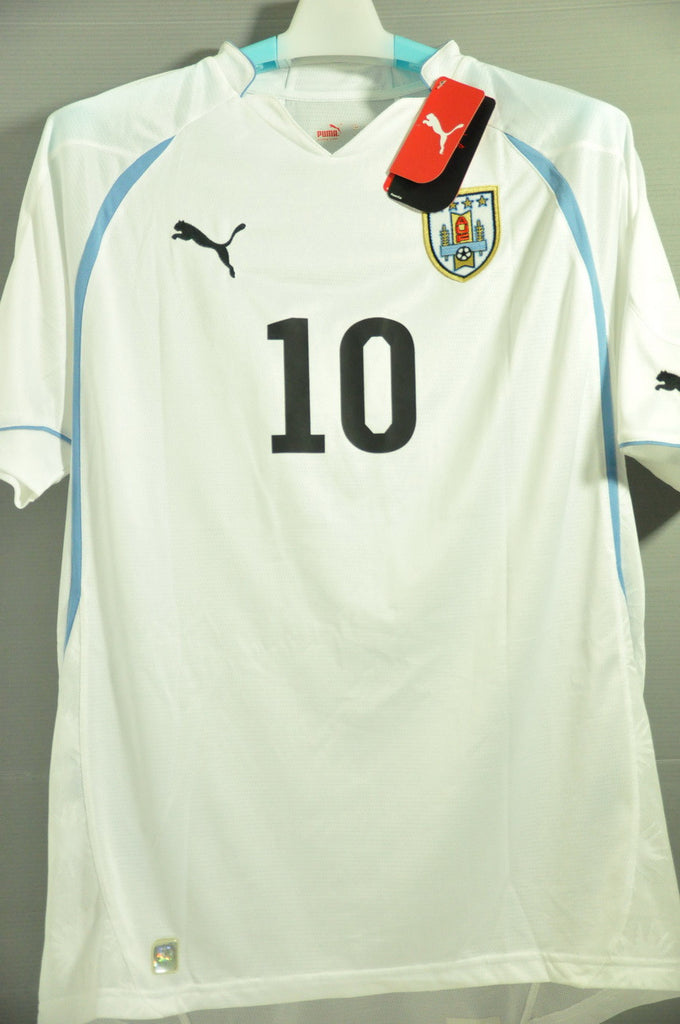 promo code fc765 1cc99 Uruguay Forlan National Football Team Replica Away Jersey Shirt World Cup  2010