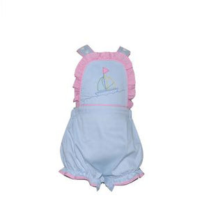 Lullaby Set Brooke Bib Bubble- Sailboat