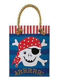 Pirate Loot Bags- 8 pack