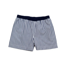 Load image into Gallery viewer, Navy Striped Shorts- The Beaufort Bonnet Company