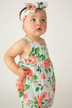 Load image into Gallery viewer, Rose Garden Tie Back Romper