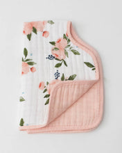 Load image into Gallery viewer, Little Unicorn Cotton Muslin Burp Cloth- Peony