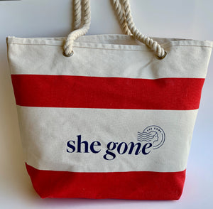She Gone Beach Tote