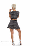 Window Pane Crop Top and Skirt Set