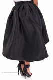Retro High Waist Pleated A-Line Skirt with Bow