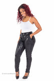 """Sparkle"" Textured Stretch Shiny Pants by Wow Couture"