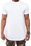 Solid Color Extended Tee with Zipper Sides