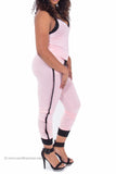 Peppered Knit Jumpsuit (Light Pink)