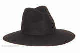 """Future"" Stiff Wide Brim Wool Fedora (Black)"