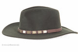 """Outback"" Wool Fedora (Olive)"