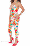 Floral Perfect Fit Stretch Deep-V Jumpsuit
